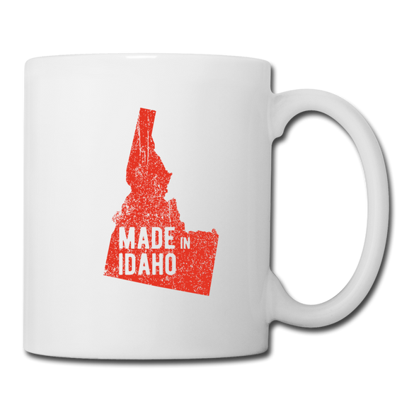 Made in Idaho Mug - Red - white