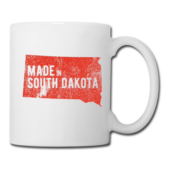Made in South Dakota Mug - Red - white