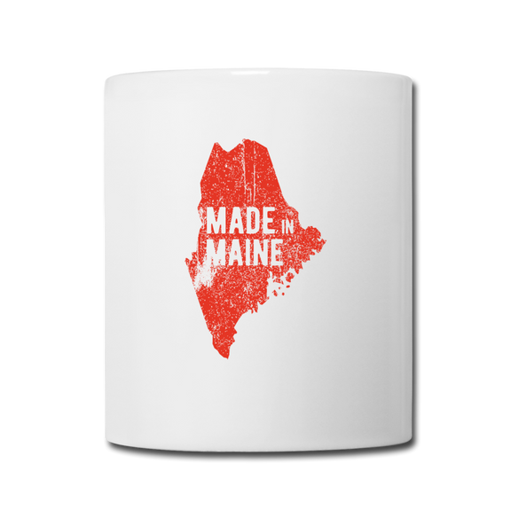 Made in Maine Mug - Red - white