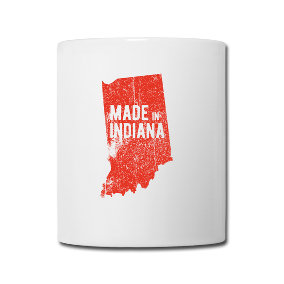 Made in Indiana Mug - Red - white