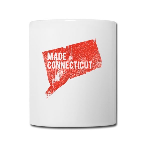 Made in Connecticut Mug - Red - white