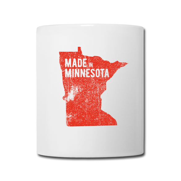 Made in Minnesota Mug - Red - white