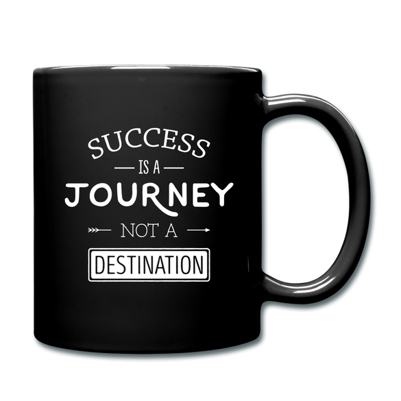 Success is a Journey Color Mug - black