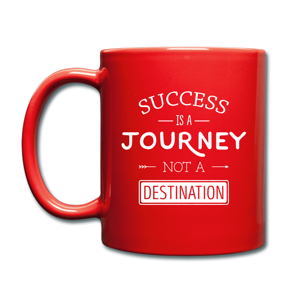 Success is a Journey Color Mug - red