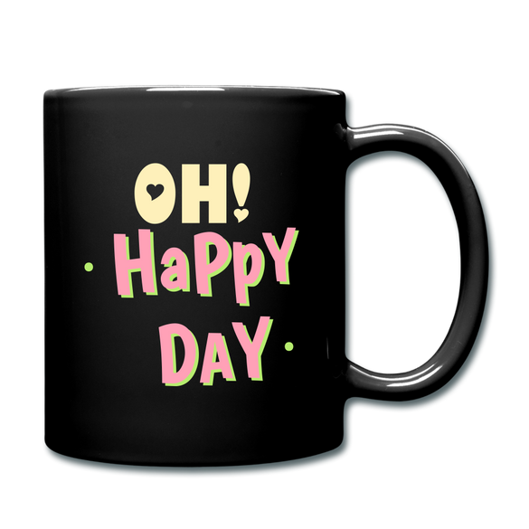 OH! Happy Day Color Mug - black