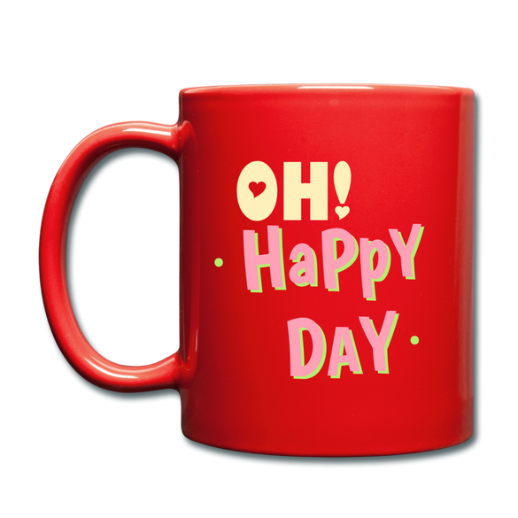 OH! Happy Day Color Mug - red