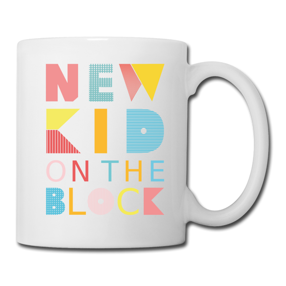 New Kid on the Block Mug - white