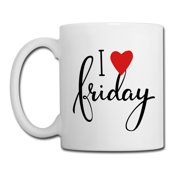 I LOVE Friday Mug - white