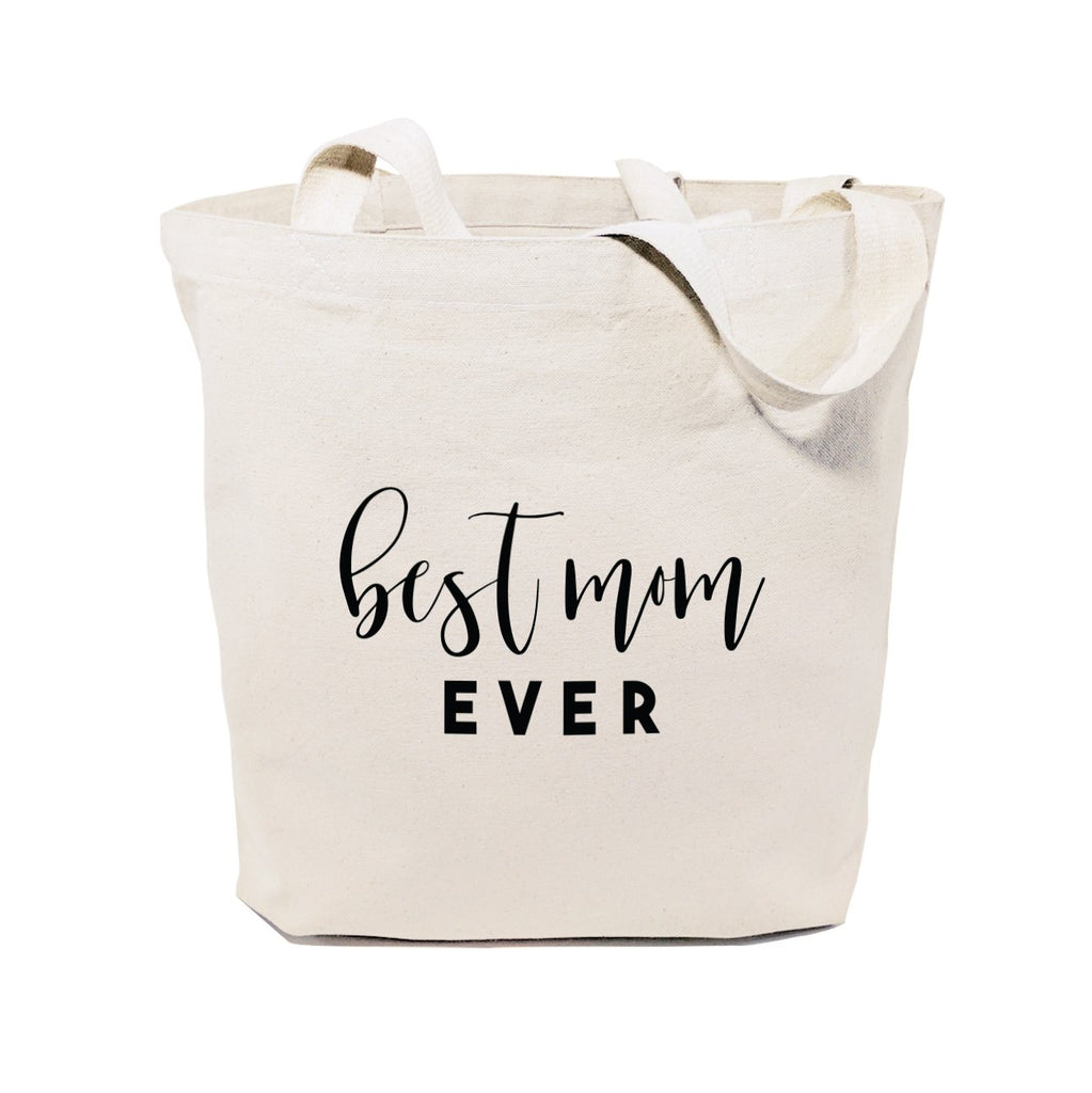Best Mom Ever Cotton Canvas Tote Bag - B Inspired Boutique