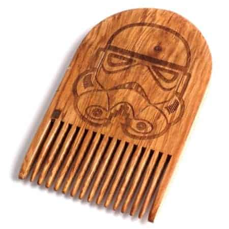 Star Wars Storm Trooper Wooden Beard Comb