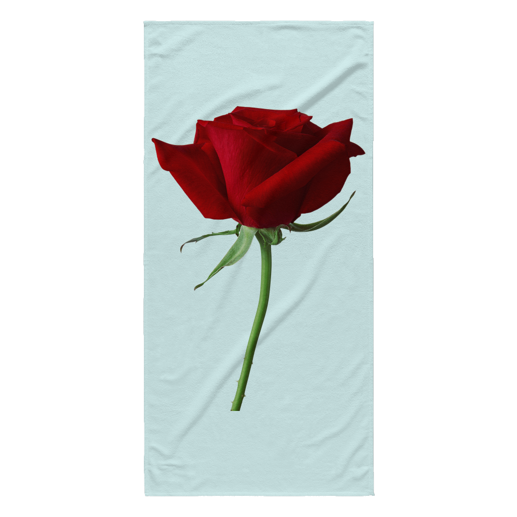The BIG Red Rose Custom Sublimated Beach Towel
