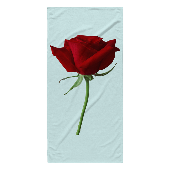 The BIG Red Rose Custom Sublimated Beach Towel - B Inspired Boutique