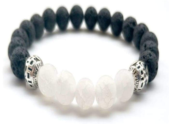 White Lava Stone Essential Oil Bracelet - B Inspired Boutique