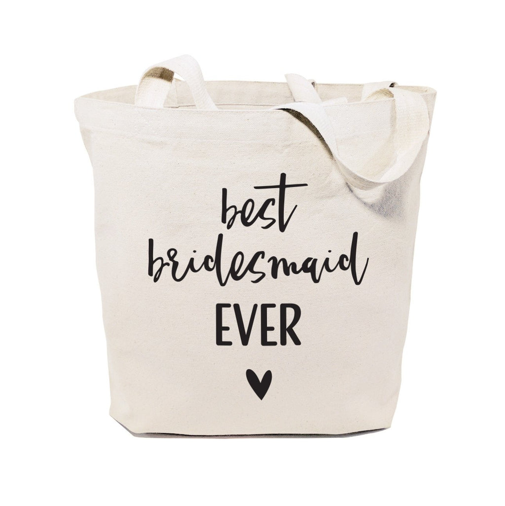 Best Bridesmaid Ever Wedding Cotton Canvas Tote Bag
