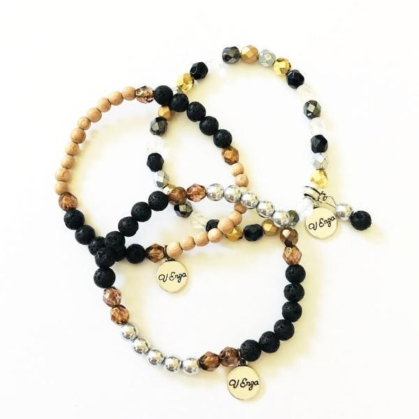 Essential Oil Bracelet ~Trio Set - B Inspired Boutique