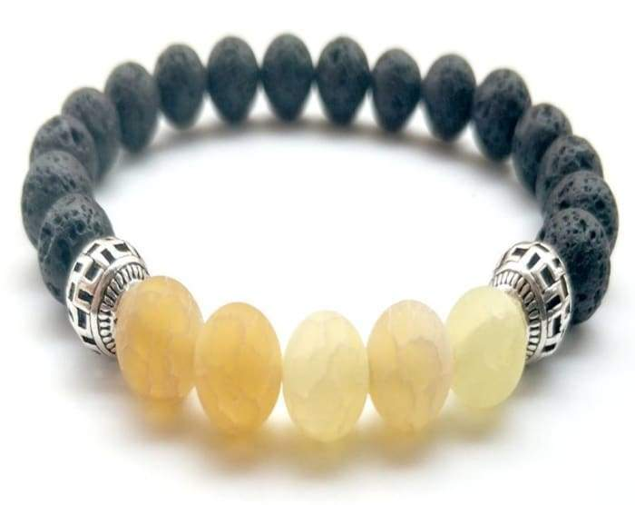 Yellow Lava Stone Essential Oil Bracelet - B Inspired Boutique
