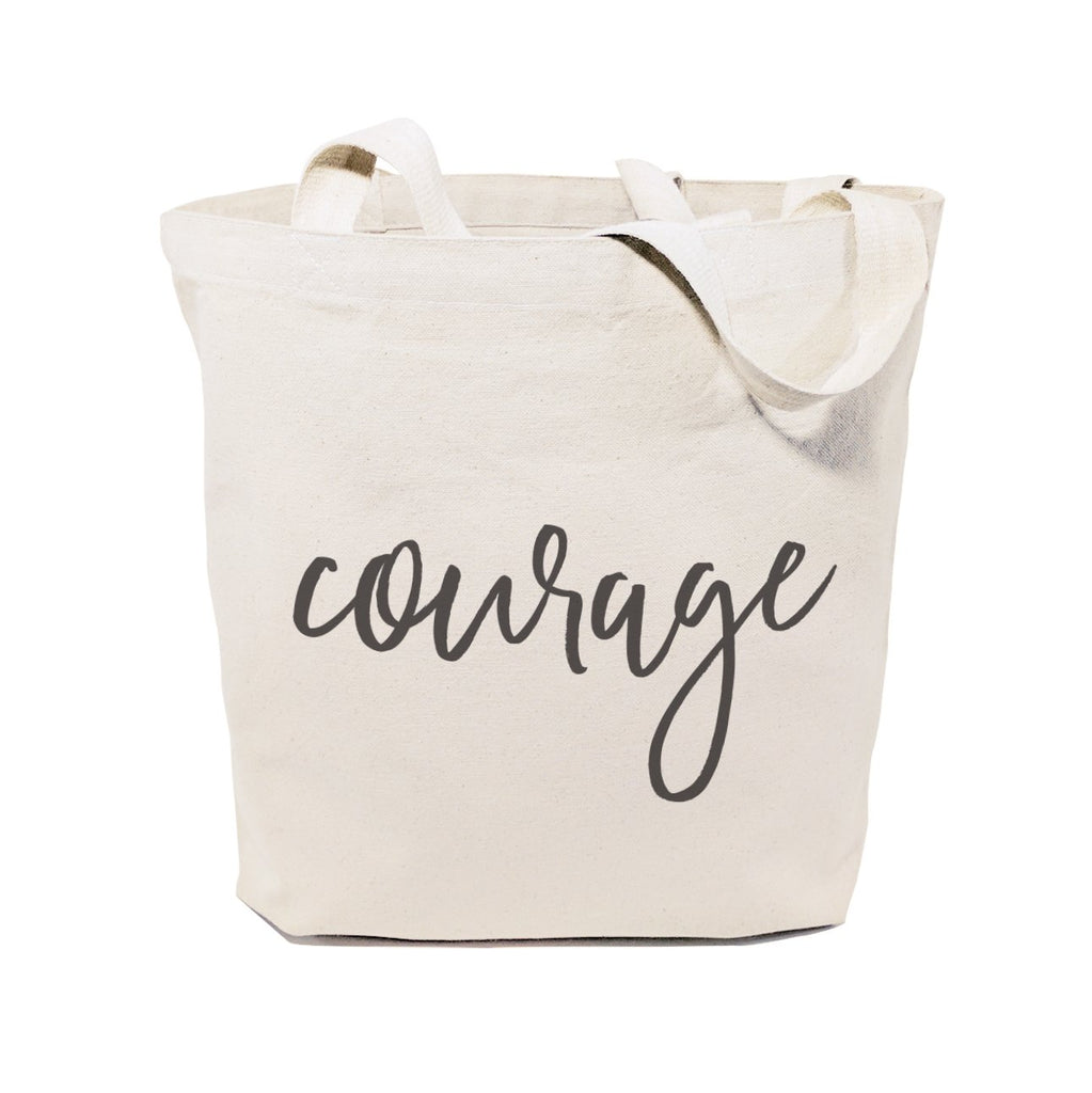 Courage Cotton Canvas Tote Bag - B Inspired Boutique