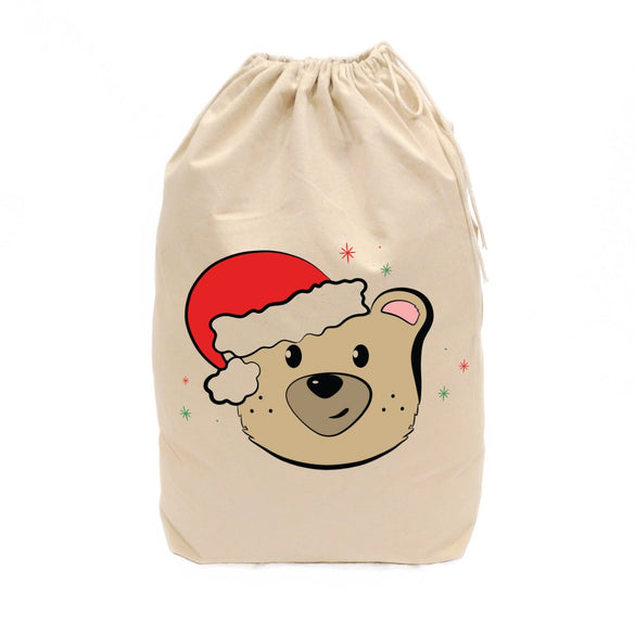 Baby Bear Cotton Canvas Christmas Santa Sack