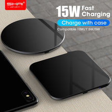 Load image into Gallery viewer, 15W QI Quick Charging Wireless Fast Charger - HammyPhoneStuff