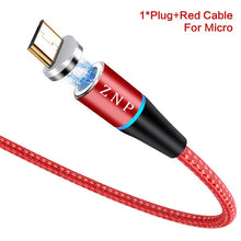 Load image into Gallery viewer, ZNP 3A Magnetic Charger Micro Usb Cable - HammyPhoneStuff