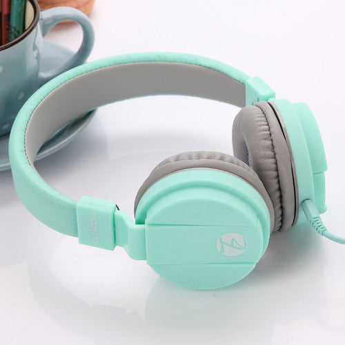 Fashion Cute Headphone Candy Color Children's Foldable with Microphone - HammyPhoneStuff