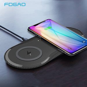 20W Double Qi Wireless Charger Pad - HammyPhoneStuff
