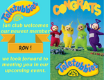 Teletubbies Fan Club Postcard