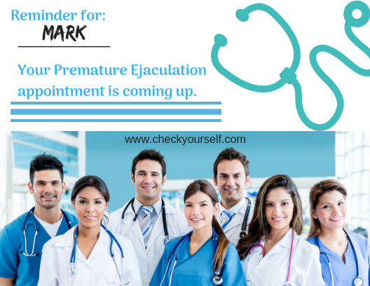 Premature Ejaculation Appointment Postcard