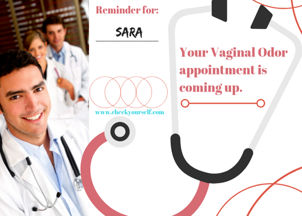 Vaginal Odor Appointment Postcard