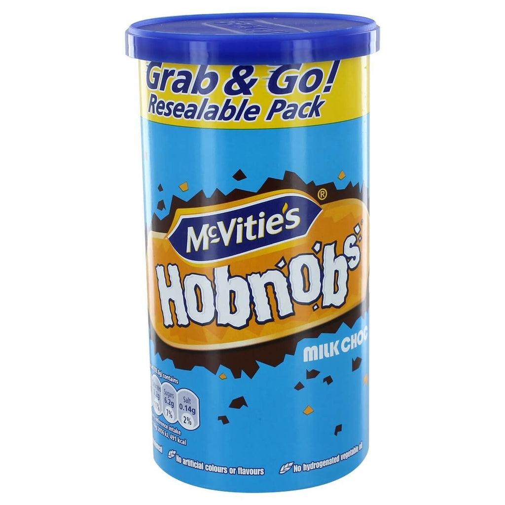 McVities Hobnobs Milk Chocolate Carton 205g