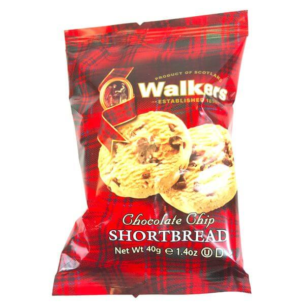 Walkers Chocolate Chip Shortbread (Pack of 2 Biscuits) 40g