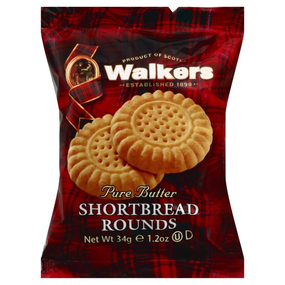 Walkers Shortbread - Rounds (Pack of 2 Biscuits) 40g