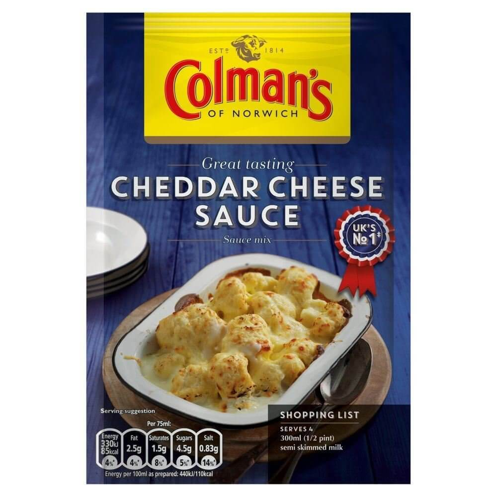 Colmans Cheddar Cheese Sauce Mix 40g