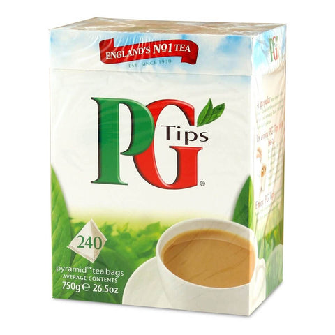 PG Tips Tea - Original Giant Box (Pack of 240 Pyramid Tea Bags) 696g