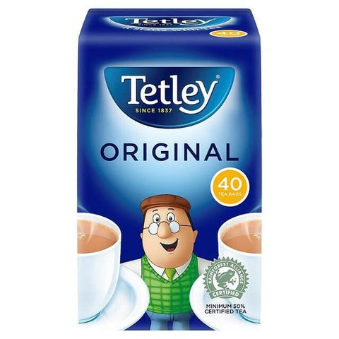 Tetley Original Tea Bags (Pack of 40 Round Teabags) 125g