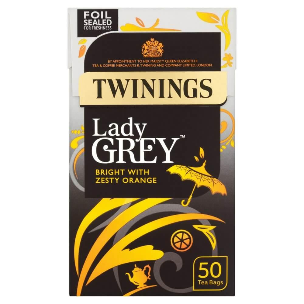 Twinings Tea - Lady Grey (Pack of 50 Tea Bags) 125g