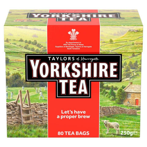 Yorkshire Tea - Red (Pack of 80 Tea Bags) 250g