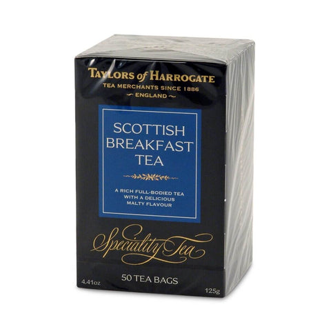 Taylors of Harrogate Scottish Breakfast Tea Bags (Pack of 50) 125g