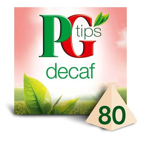 PG Tips Decaf Pyramid Tea Bags (Pack of 80 Teabags) 203g