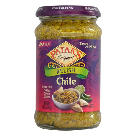 Pataks Chile Relish Extra Hot 293g