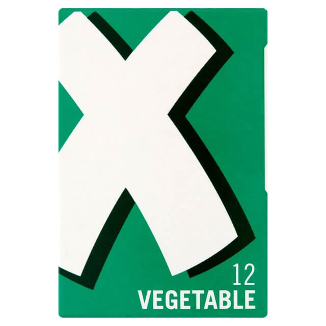 Oxo Stock Cubes - Vegetable (Pack of 12 Cubes) 71g