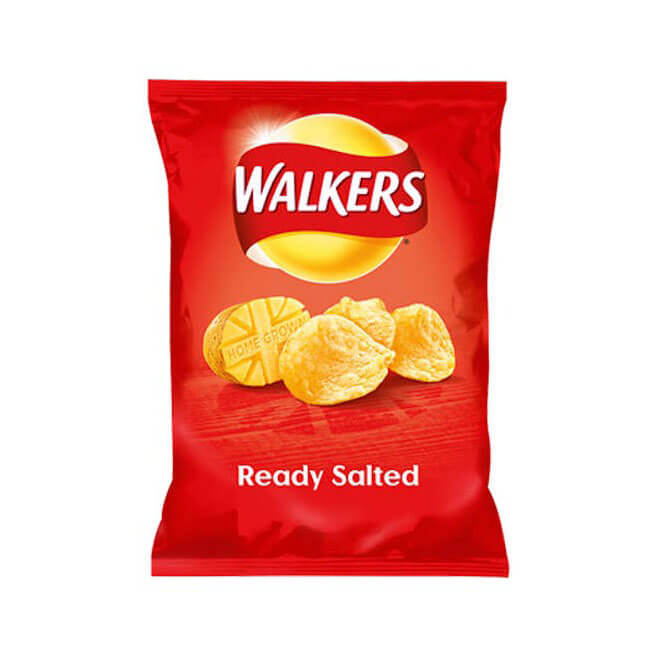 Walkers Crisps - Ready Salted  32.5g