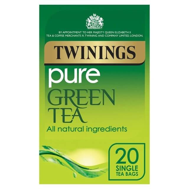 Twinings Tea - Green Pure (Pack of 20 Tea Bags) 50g