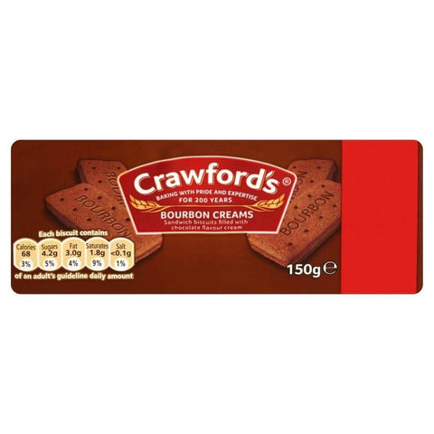 McVities Crawford Bourbon Cream Biscuits 150g