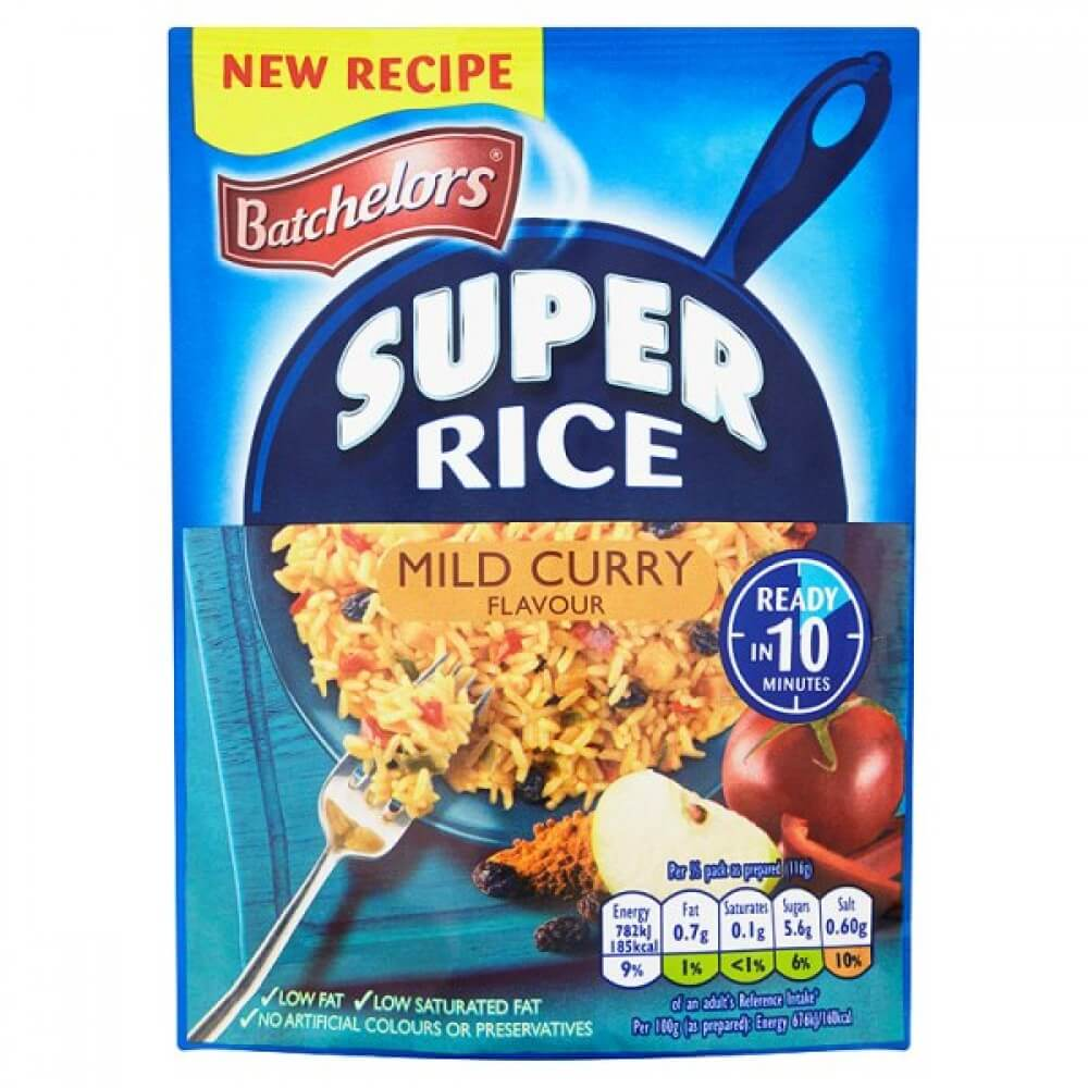 Batchelors Super Rice Mild Curry Flavor 100g
