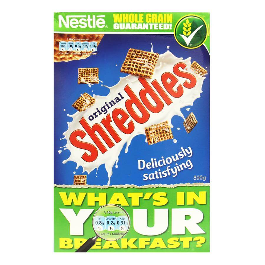 Nestle Shreddies Frosted Cereal 500g
