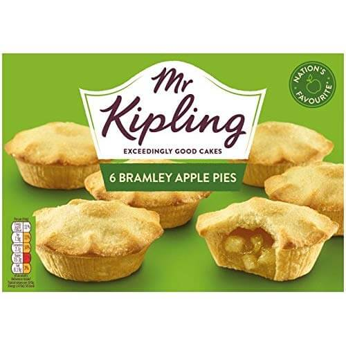 Mr Kipling Bramley Apple Pies (Pack of 6 Pies) 280g