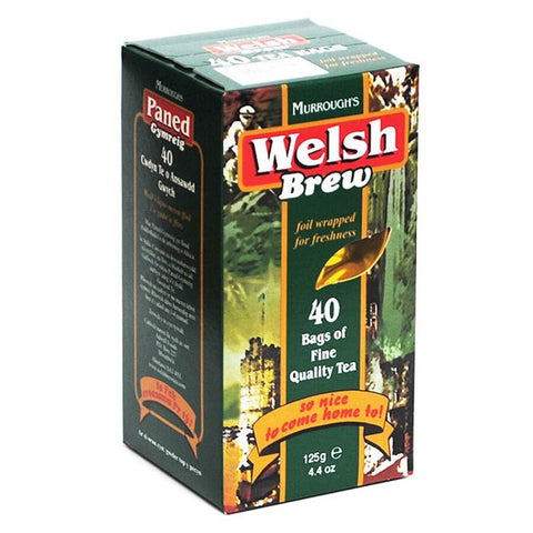 Murroughs Tea - Welsh Brew Tea (Pack of 40 Tea Bags) 125g