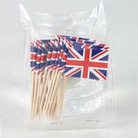 British Brands Toothpick Flags Union Jack (Pack of 25) 10g