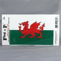 "British Brands Decal Welsh Dragon Flag 5 x 3.25"" 10g"